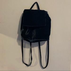 Baggu Blue Velvet Mini Backpack